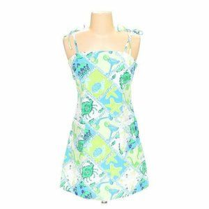 Lilly Pulitzer Printed Tie Sun Dress Size 2